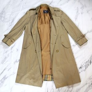 Burberrys Double Breasted Wool Trenchcoat